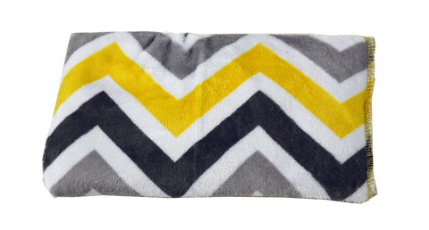 Chevron Silver and Yellow