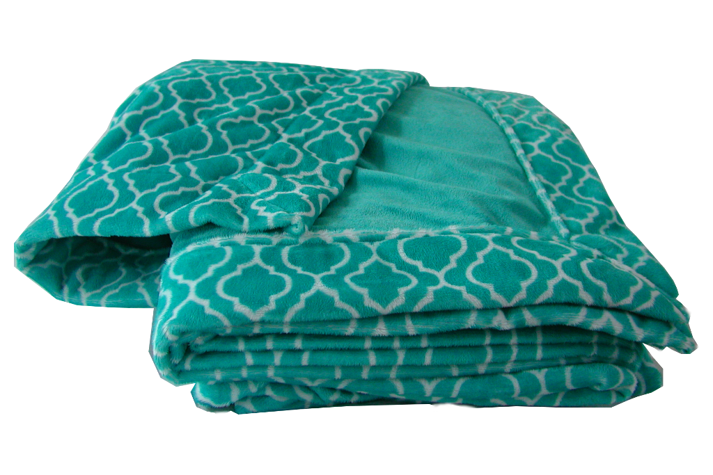 Trellis Teal with Plush Teal Cuddle