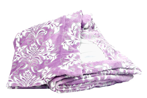 Madrid Violetta Cuddle with Silver Silky Satin
