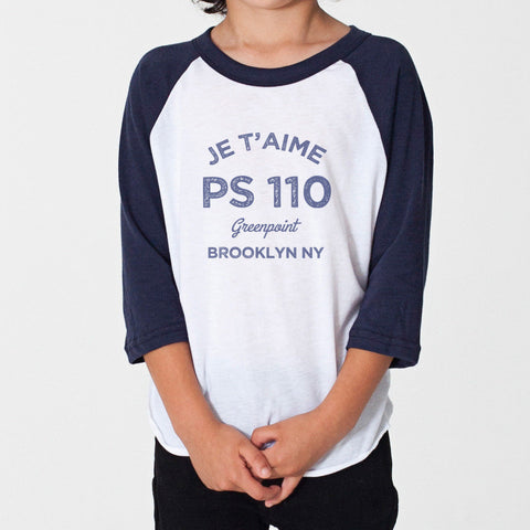 Je t'aime PS 110 Kids  T Shirt