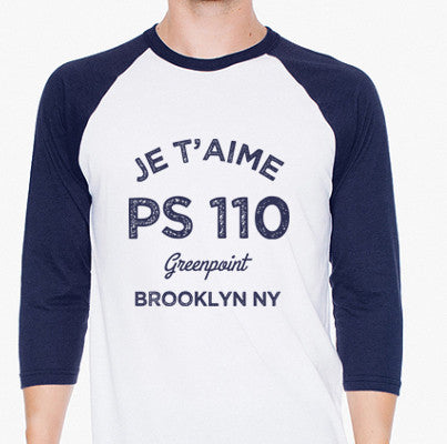 Je t'aime PS 110 Adult  T Shirt