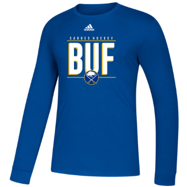 Buffalo Sabres Adidas Royal BUF Amplifier Long Sleeve Tee
