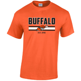 Buffalo Bandits 100% Cotton Orange Short Sleeve Tee