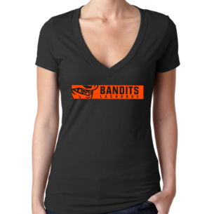 Buffalo Bandits Black Women's V-Neck Tee