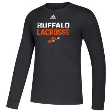 Buffalo Bandits Adidas Black Long Sleeve Tee