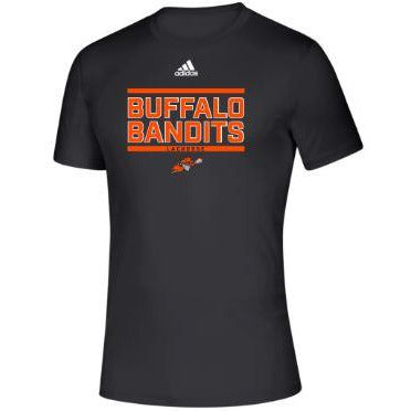 Buffalo Bandits Adidas Black Short Sleeve Tee