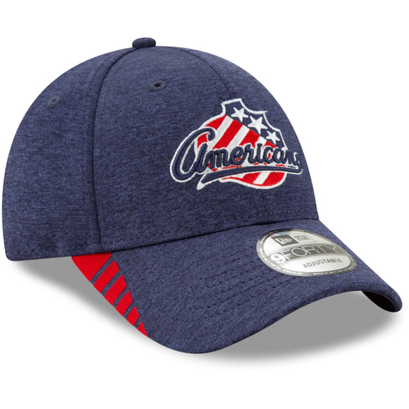 New Era Rochester Americans Navy Visor 9Forty Adjustable Cap