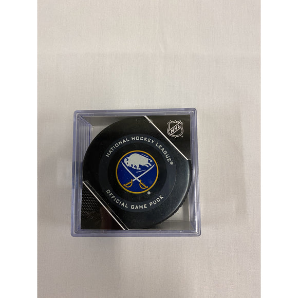 Buffalo Sabres InGlasCo Game Puck in Cube