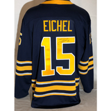 "Buffalo Sabres Men's Navy Eichel ""A"" Autographed Replica Jersey"