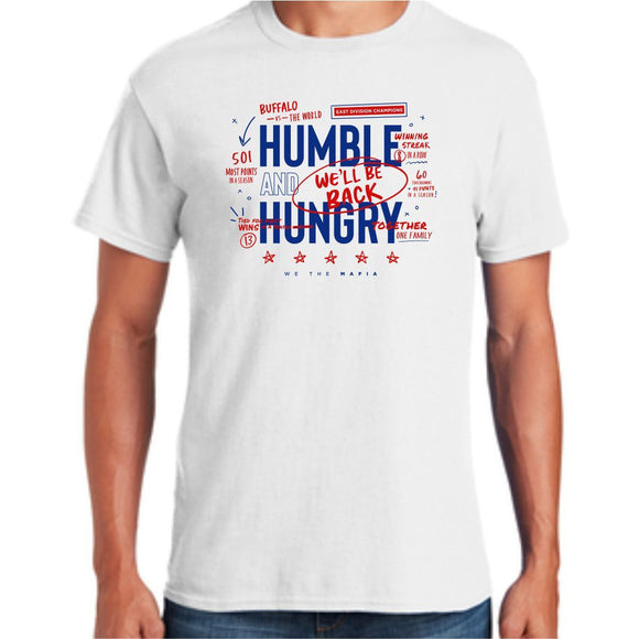 *PRE-SALE* Buffalo Bills Humble and Hungry White Short Sleeve Tee
