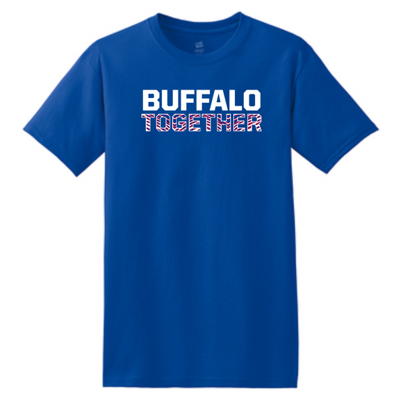 Bills Together Royal Striped Tee