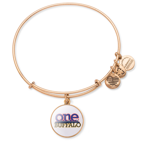 Alex and Ani - One Buffalo Bangle Bracelet w/ Rafaelian Gold Finish