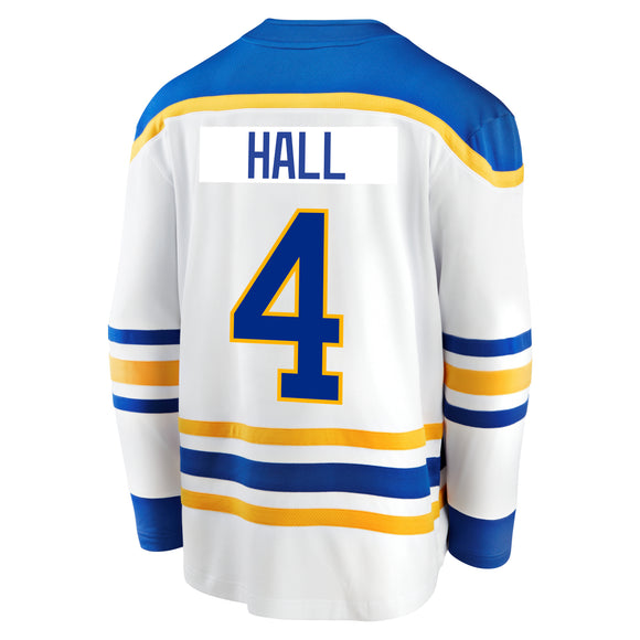 Sabres Fanatics Replica White HALL Jersey