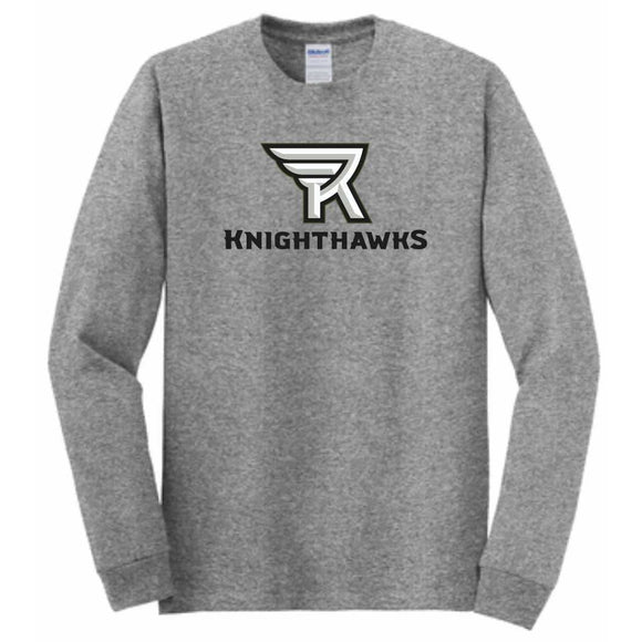 Rochester Knighthawks Charcoal Long Sleeve Tee