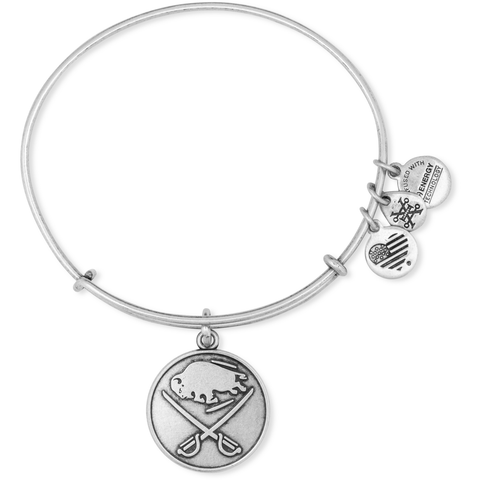 Alex and Ani - Sabres Bangle Bracelet w/ Rafaelian Silver Finish
