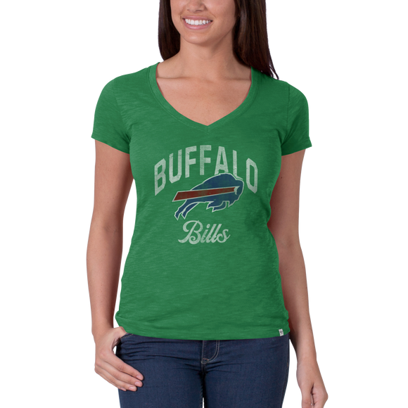 Bills Womens St Pats V Neck Scrum Tee