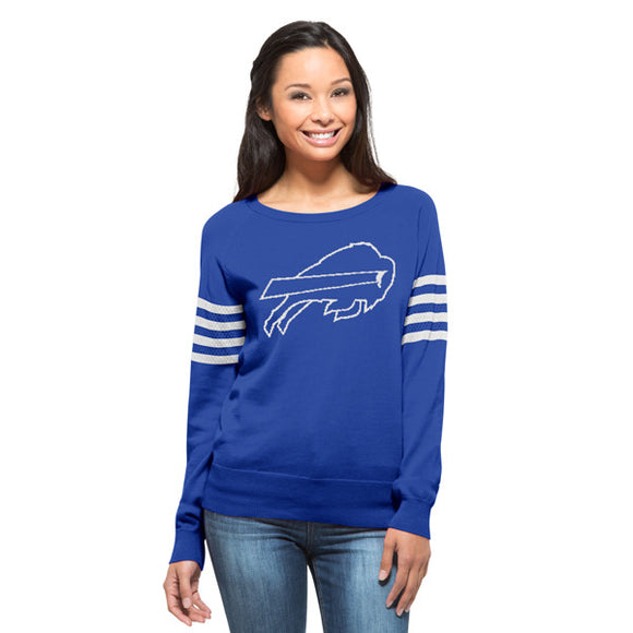 Bills Womens Drop Needle Sweater