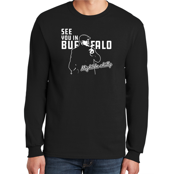 *Pre-Sale* Tasker Chilly in Buffalo Black L/S Cotton Tee