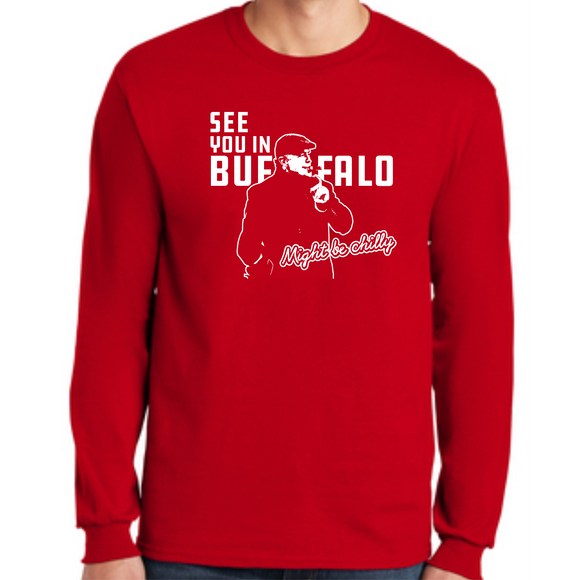 Tasker Chilly in Buffalo Red L/S Cotton Tee