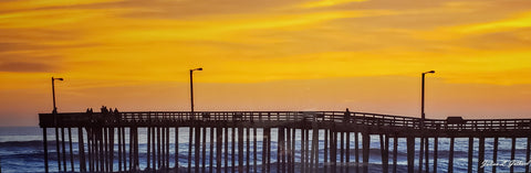 Cayucos Pier Silhouetted by the Evening Sunset