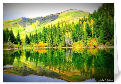 Lizard Lake in the Fall Greetings Card