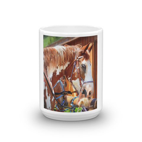 Painted Belgian Horse