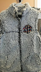 Sherpa Vest with Monogram Applique