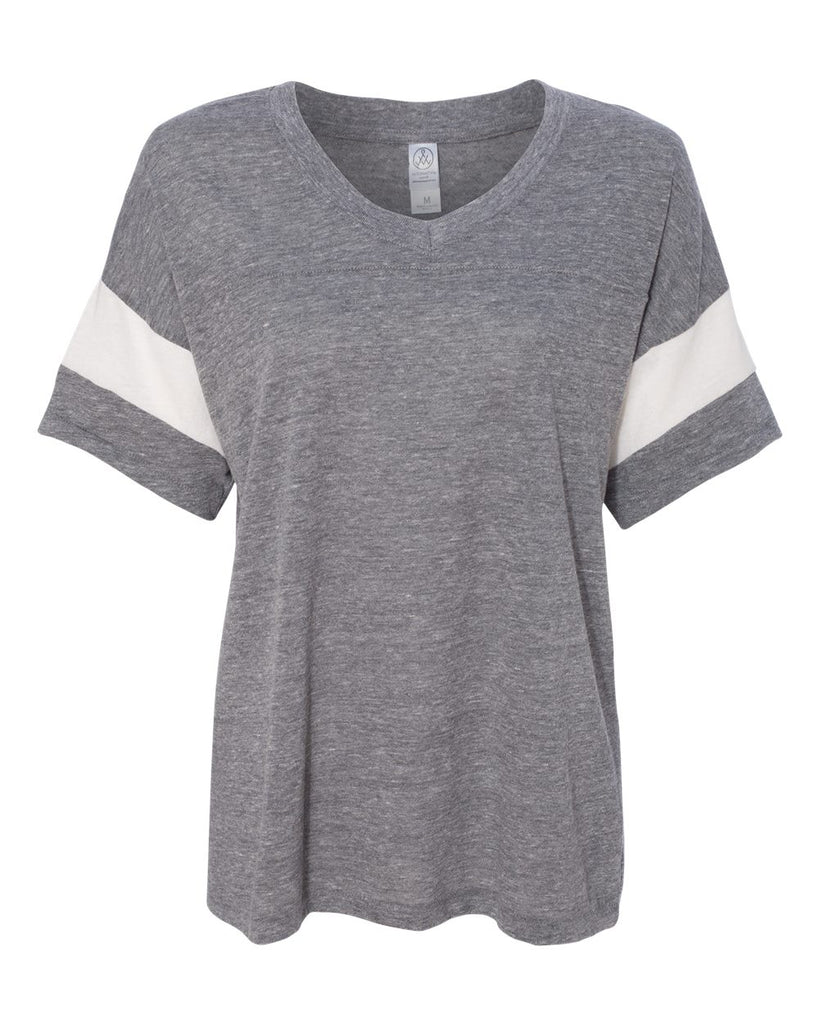 Women's Eco-Jersey™ Powder Puff Tee - 1988(SHOWN IN ECO GREY/ECO IVORY)