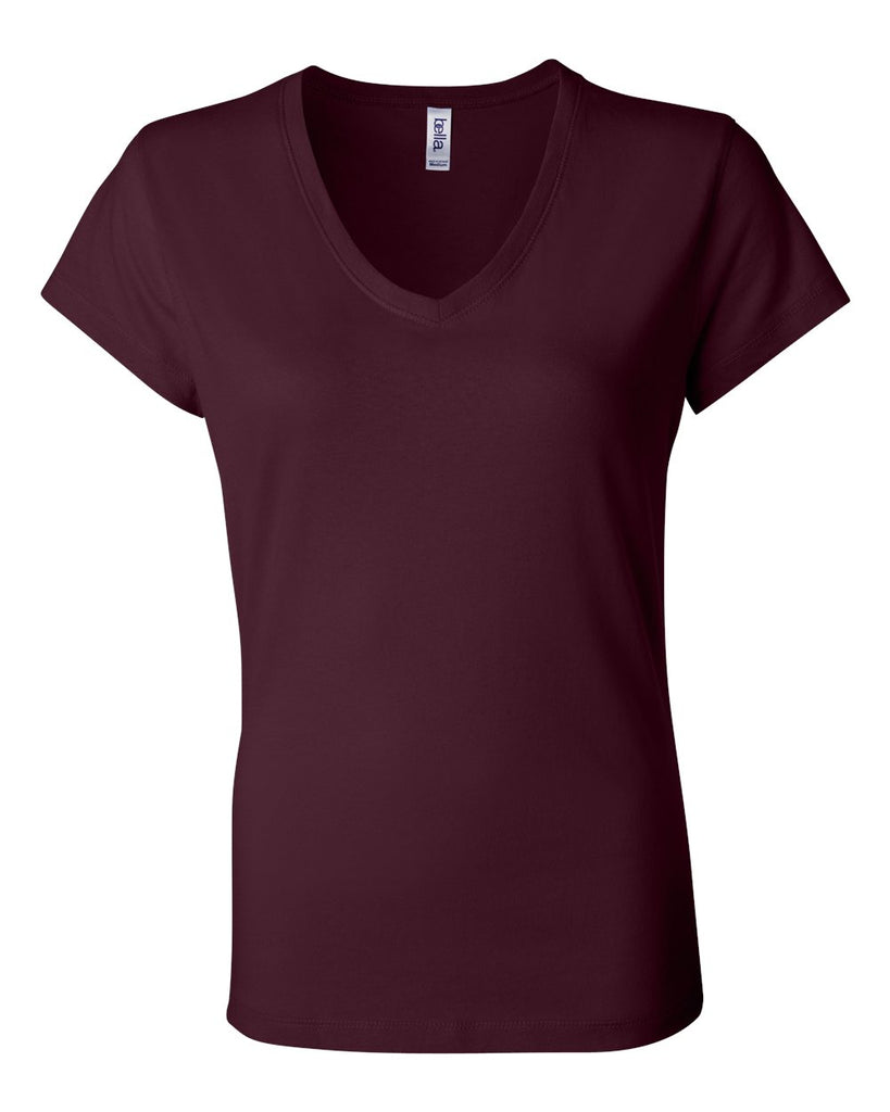 Bella + Canvas Women's Short Sleeve Jersey V-Neck Tee - 6005