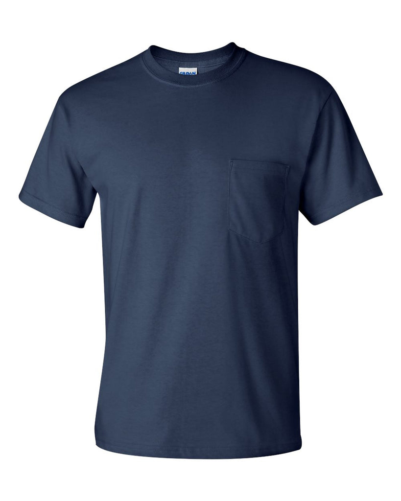 GILDAN SHORT SLEEVE TEE WITH POCKET - 2300(SHOWN IN NAVY)