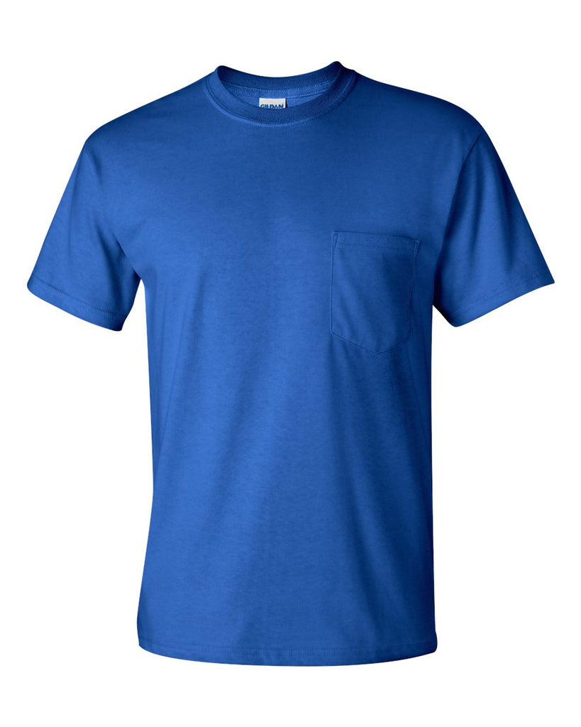 SHORT SLEEVE T-SHIRT WITH POCKET TALLS- PC55PT(SHOWN IN ROYAL)