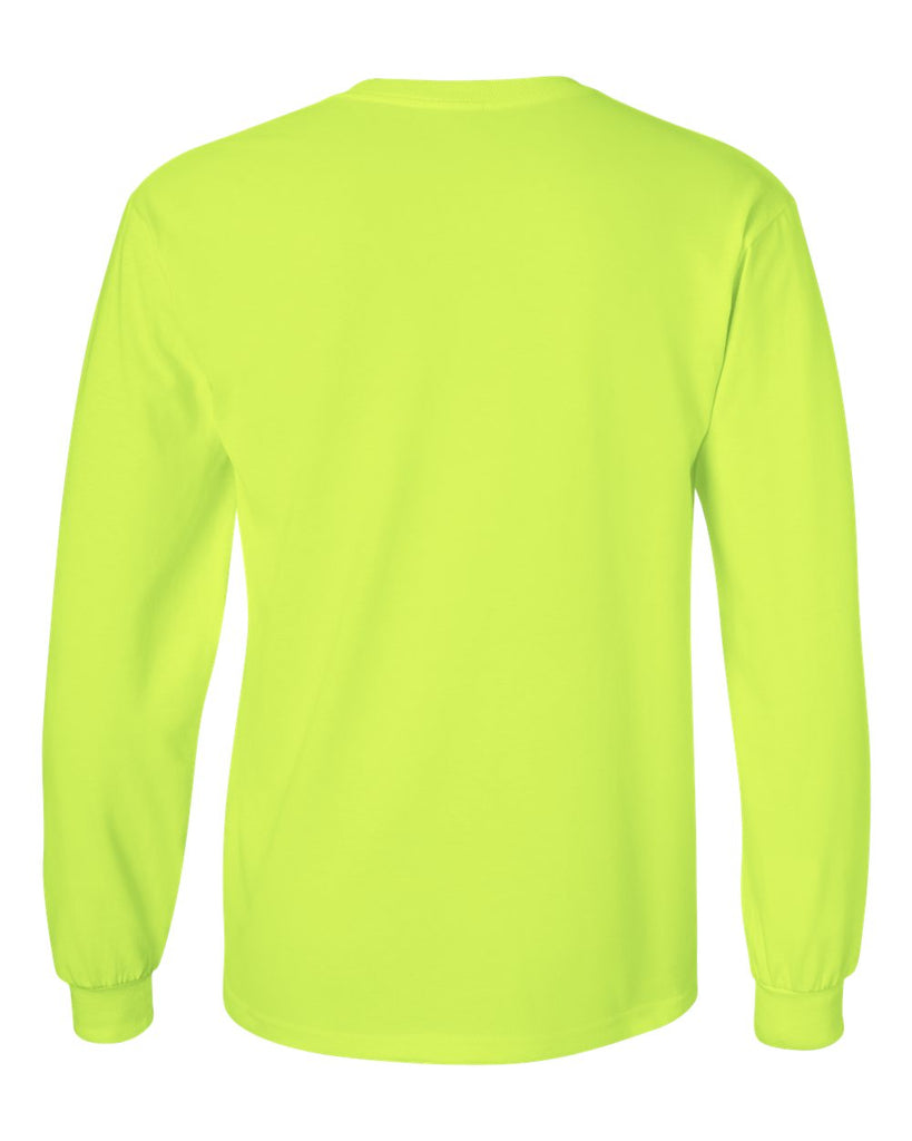 GILDAN LONG SLEEVE T-SHIRT - 2400(SHOWN IN SAFETY GREEN)