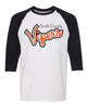 Vipers Baseball Tee - 5700 with Glitter Vinyl