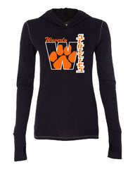Waverly Scotties Womens Black Triblend Hooded Long Sleeve