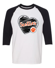 Scotties Baseball Tee - 5700 with Glitter Vinyl