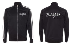 Baby Talk Black Zip Up Jacket - Ink