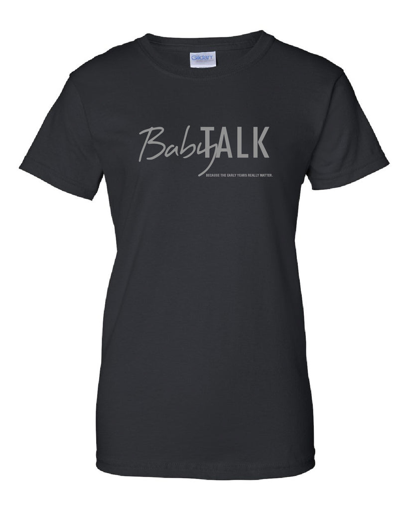 Baby Talk Ladies Tshirt - Glitter