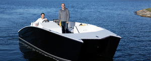 ELUX Marine Announces Fiberglass Electric Pontoon
