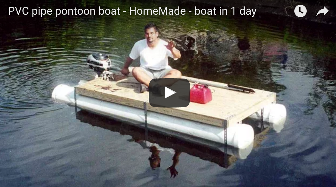 Make a DIY Pontoon Boat in 1 Day for $250 Bucks!
