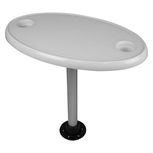 Wise Oval Pontoon Table with Cupholders