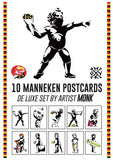 "Cartes postales ""Manneken Pis"" by MONK - 10 De Luxe postcards set"