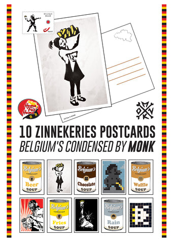"Cartes postales ""Zinnekeries"" by MONK - 10 postcards set"