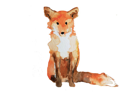 watercolour fox painting