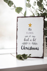 Christmas Metal Sign