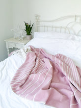 Organic Cotton Throw Pink Stripe