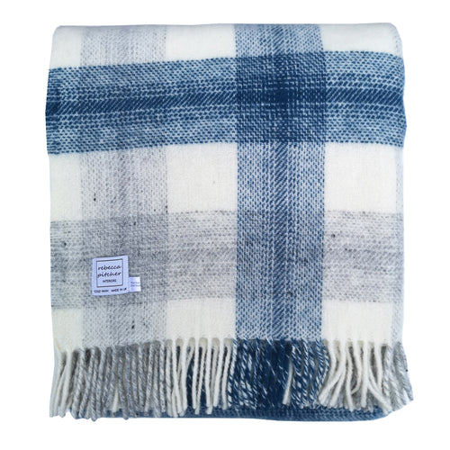 Ink Meadow Check Throw