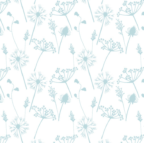 Meadow Cotton Fabric - Duckegg