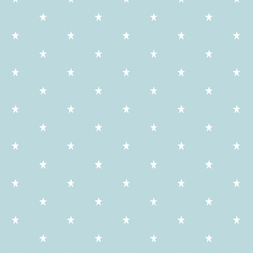 Star Cotton Fabric - Duckegg