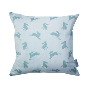 duckegg blue hare cushion