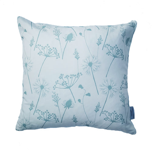 duckegg blue meadow flower cushion